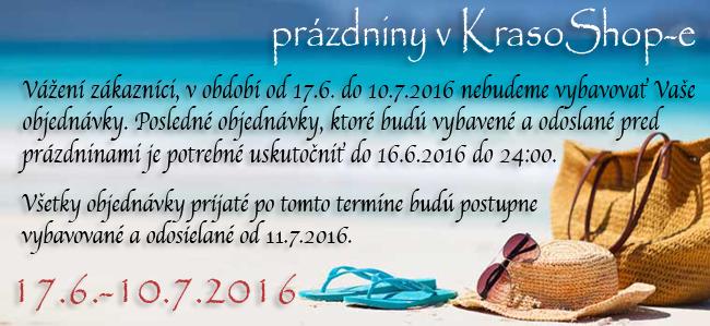 17.6.-10.7.2016 - pr�zdniny v KrasoShop-e